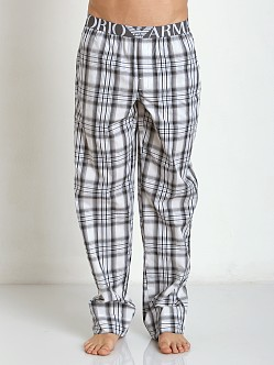 Emporio Armani Yarn Dyed Lounge Pants White/Black