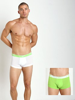 Emporio Armani Stretch Cotton 2-Pack Trunk White/Green
