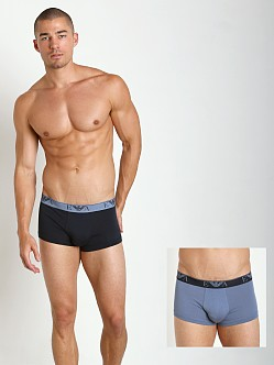 Emporio Armani Stretch Cotton 2-Pack Trunk Marine/Cloud