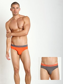 Emporio Armani Stretch Cotton 2-Pack Brief Orange/Grey