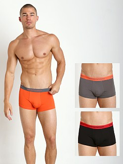 Emporio Armani Stretch Cotton 3-Pack Trunk Orange/Grey/Black