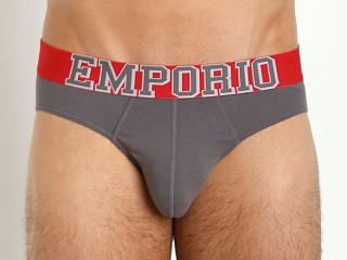 Emporio Armani Varsity Eagle Stretch Cotton Brief Ash Grey