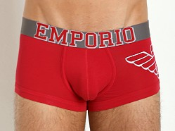 Emporio Armani Varsity Eagle Stretch Cotton Trunk Lacquer Red