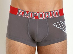 Emporio Armani Varsity Eagle Stretch Cotton Trunk Ash Grey