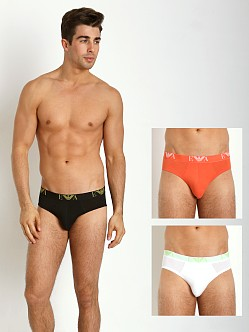 Emporio Armani Jersey Cotton 3-Pack Brief Black/Orange/White