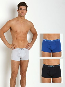 Emporio Armani Jersey Cotton 3-Pack Trunk Grey/Royal/Marine