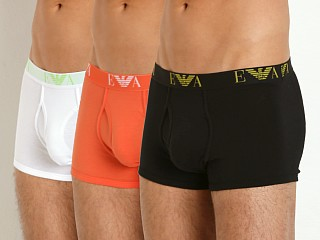 Emporio Armani Jersey Cotton 3-Pack Trunk Black/Orange/White