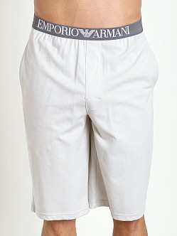 Emporio Armani 100% Cotton Bermuda Shorts Pearl Grey