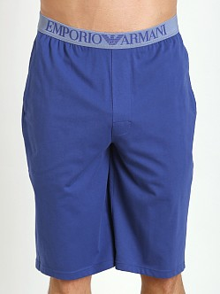 Emporio Armani 100% Cotton Bermuda Shorts Blue Ink