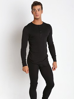 2xist Essential Long Sleeve Henley Black