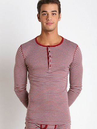 2xist Essential Long Sleeve Henley Cranberry