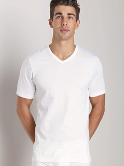 Hugo Boss Pure Cotton V-Neck Shirt 3 Pack White