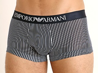 Model in marine/white stripe Emporio Armani Pattern Mix Trunk