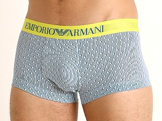 Model in stripe/pois Emporio Armani Pop Print Trunk