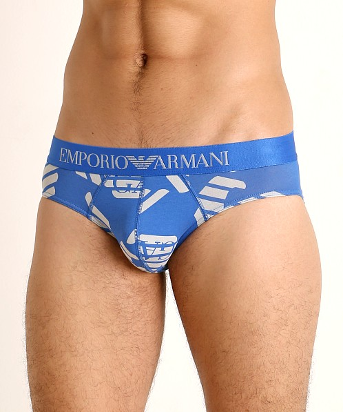Emporio Armani All Over Eagle Brief Overseas Eagles/Cloud