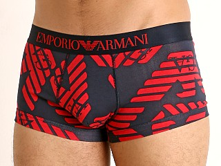 Emporio Armani All Over Eagle Trunk Marine Eagles/Red