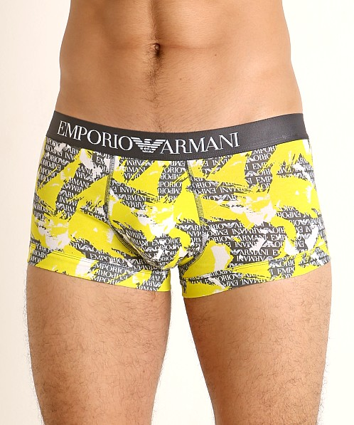 Emporio Armani All Over Camou Trunk Anthracite Camou