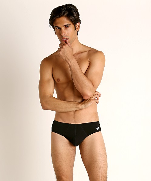 Emporio Armani Shiny Logoband Brief Black