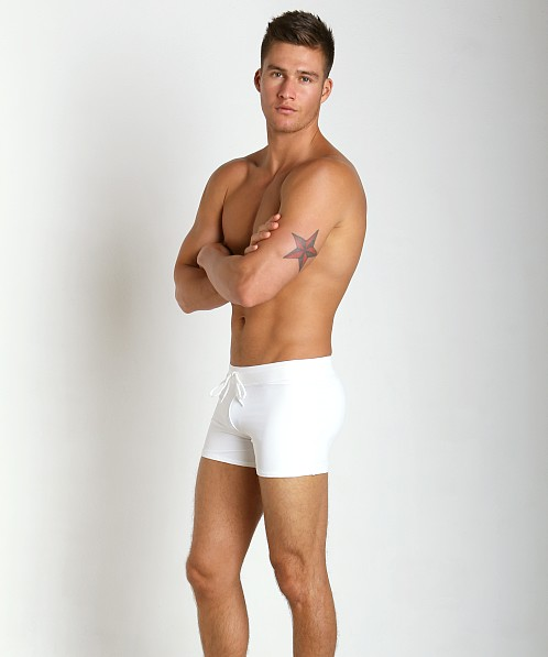 McKillop Venice White Party Magic Mesh Swim Trunk White/White