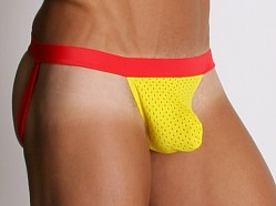 Tulio Power Pouch Athletic Mesh Jockstrap Yellow