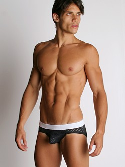 Tulio Power Pouch Athletic Mesh Briefs Black