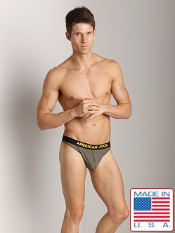 American Jock Athletic Mesh C-Ring Thong Olive/Gold