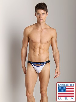 American Jock Athletic Mesh Scoop Jock White/Royal