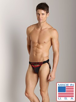 American Jock Athletic Mesh Scoop Jock Black/Red