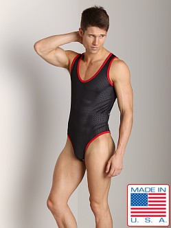 American Jock Athletic Mesh Body Tank Black/Red