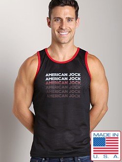 American Jock Athletic Mesh Tank Top Black/Red
