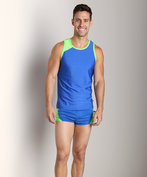 American Jock Competition Tank Top Royal/Neon Lime