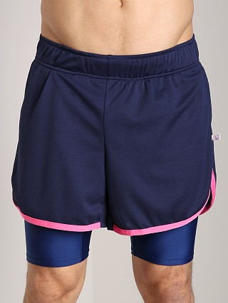 Complete the look: American Jock Competition Workout Short Navy/Neon Pink