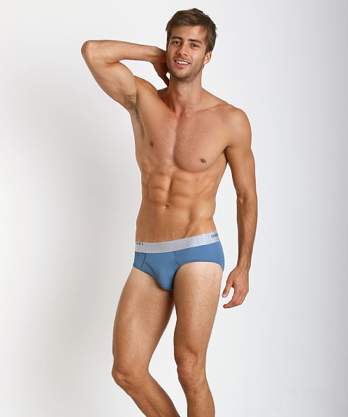 Diesel Microfiber Blade Brief Blue Grey