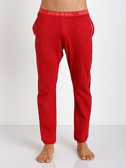 Diesel Massi 100% Cotton Lounge Pants Red