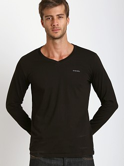 Diesel Justin 100% Cotton V-Neck Sweater Black