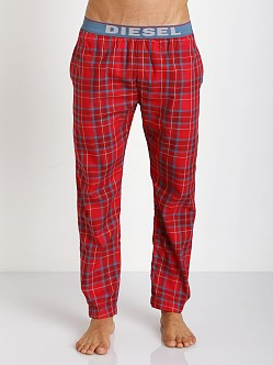 Diesel Derik Plaid Lounge Pants Red