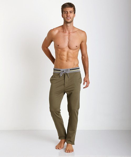 Diesel Martin 100% Cotton Lounge Pants Olive
