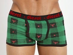 Diesel Plaid Semajo Trunk Green