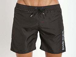 Diesel Markred Logo Swim Boxer Black