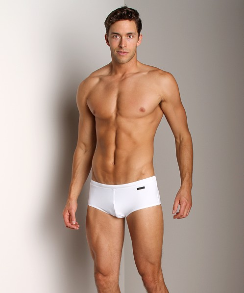 Calvin Klein Solid Sports Swim Trunk White