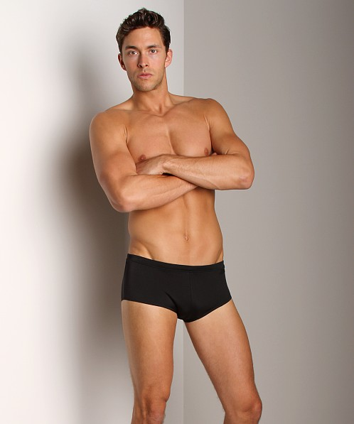 Calvin Klein Solid Sports Swim Trunk Black
