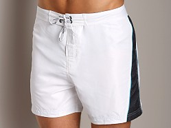 Calvin Klein Colorblock Swim Boxer White