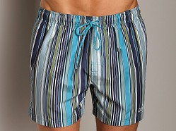 Calvin Klein Voltage Stripe Swim Boxer Veridian