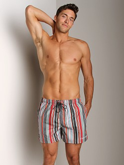 Calvin Klein Voltage Stripe Swim Boxer Mandarin