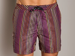 Calvin Klein Tubular Stripe Boardshorts Orange