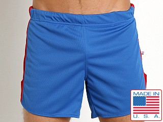American Jock Sprint Running Short w/Built-In Jock Royal/Red