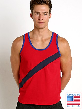American Jock Sprint Decathlon Tank Red