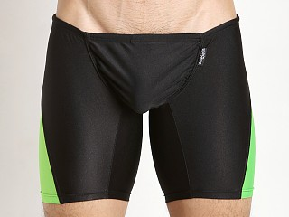 Model in black/lime Ergowear FEEL Swim Trunk
