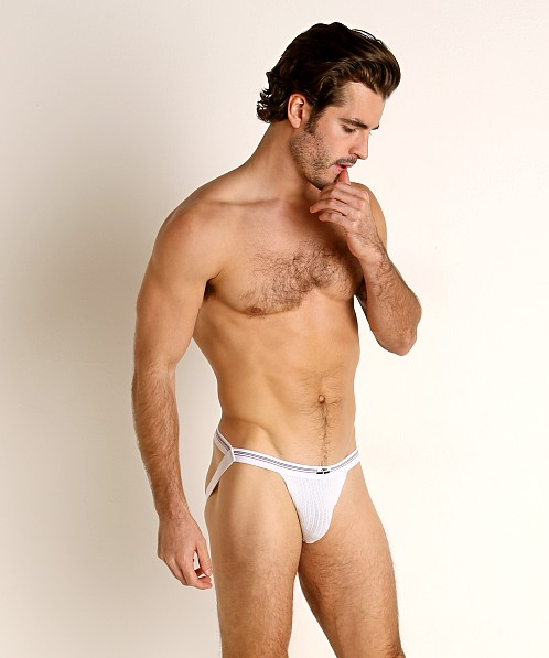 Cell Block 13 Tight End Swimmer Jockstrap White