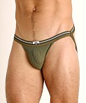 Cell Block 13 Tight End Swimmer Jockstrap Army Green, view 3
